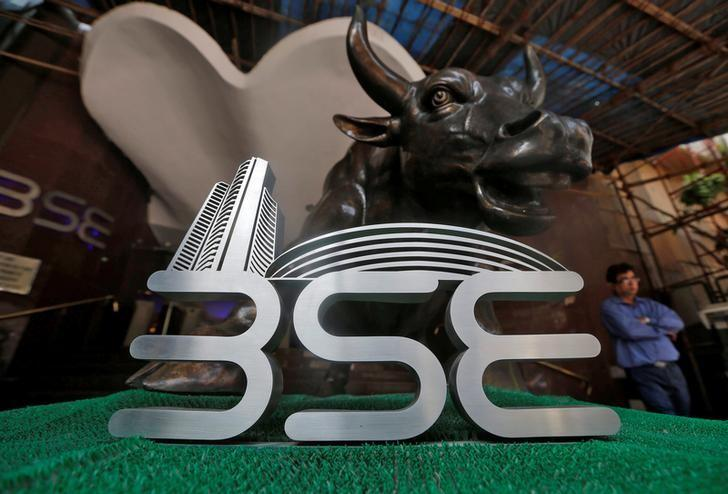 The Bombay Stock Exchange (BSE) logo is seen at the BSE building in Mumbai, India, January 25, 2017.  REUTERS/Shailesh Andrade/Files