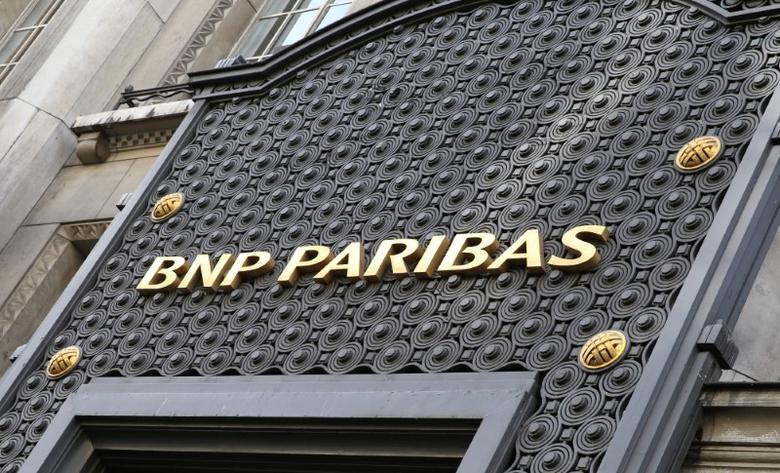 The logo of the BNP Paribas bank is seen in Paris, France, February 6, 2017. REUTERS/Jacky Naegelen
