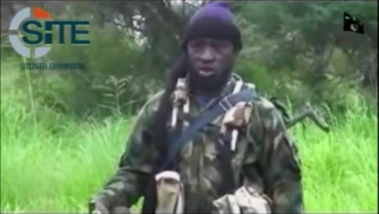 FILE PICTURE: A man purporting to be Boko Haram's leader Abubakar Shekau speaks in this still frame taken from social media video courtesy of SITE Intel Group, released on August 10, 2016, in an unknown location. MANDATORY CREDIT Social Media courtesy of SITE INTEL GROUP/ via REUTERS TV
