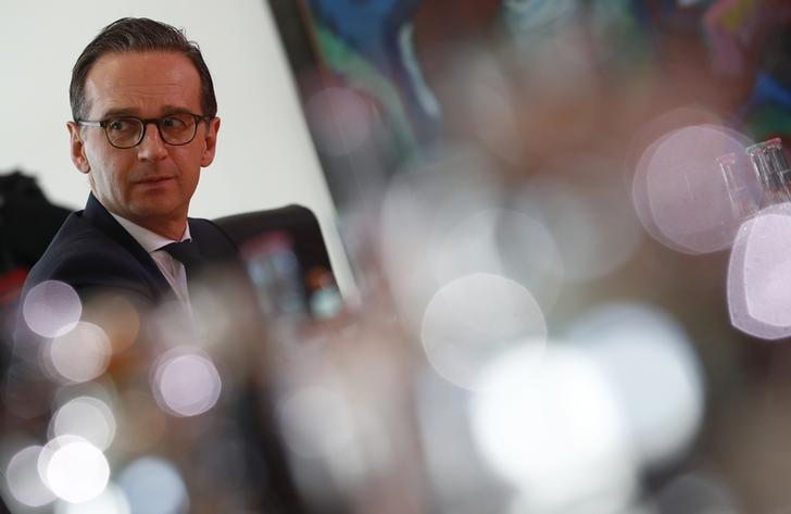 Justice Minister Heiko Maas attends a cabinet meeting in Berlin, Germany, March 22, 2017.     REUTERS/Fabrizio Bensch