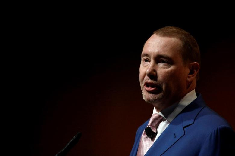FILE PHOTO - Jeffrey Gundlach, Chief Executive Officer, DoubleLine Capital LP., speaks at the Sohn Investment Conference in New York City, U.S. May 4, 2016.  REUTERS/Brendan McDermid