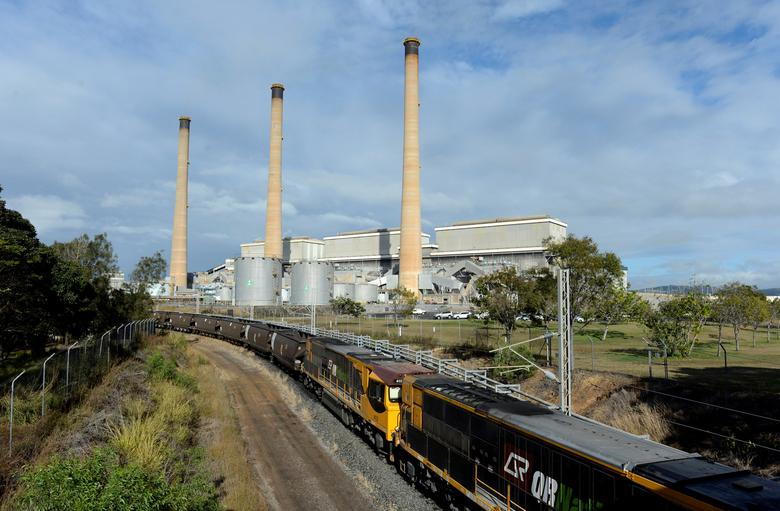 A coal train leaves the Gladstone Power Station in Gladstone, Queensland, Australia, July 17, 2013. Picture taken July 17, 2013.  AAP/Dan Peled/via REUTERS