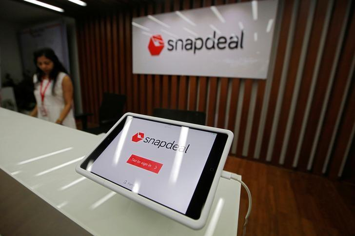 An employee is seen at the front desk of Snapdeal headquarters in Gurugram on the outskirts of New Delhi, India, April 3, 2017.   REUTERS/Adnan Abidi