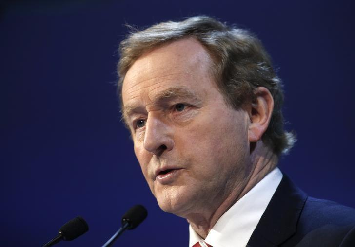 Irish Prime Minister Enda Kenny takes part in a European People Party (EPP) summit in St Julian's, Malta, March 30, 2017. REUTERS/Darrin Zammit Lupi