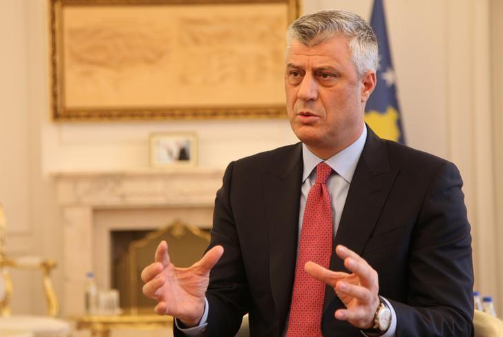 Kosovo's President Hashim Thaci gives an interview for REUTERS in his office in Kosovo's capital Pristina, January 16, 2017. REUTERS/Hazir Reka/Files