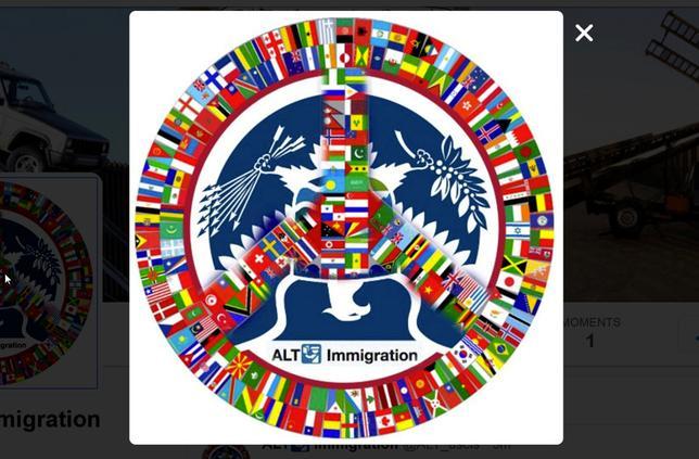 The logo for the parody immigration Twitter account @alt_uscis.   @alt_uscis/Handout via Reuters