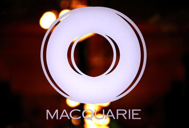 The logo of Australia's biggest investment bank Macquarie Group Ltd adorns a door to their Sydney office headquarters in Australia, October 28, 2016.    REUTERS/FILE/David Gray