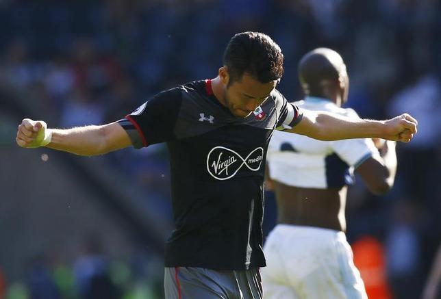 4月8日、サッカーのイングランド・プレミアリーグ、吉田麻也(写真)が所属するサウサンプトンはウエストブロムウィッチを1─0で下した(2017年 ロイター)