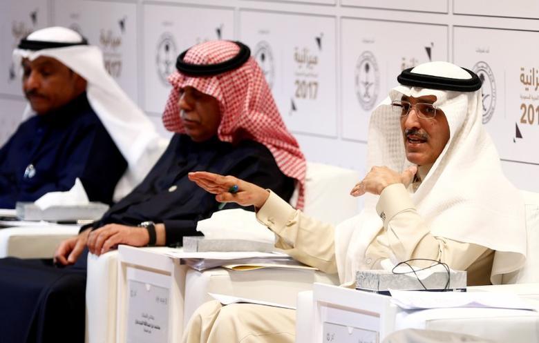 Saudi minister of finance Mohammed Al-Jadaan gestures during the 2017 budget news conference in Riyadh, Saudi Arabia December 22, 2016. REUTERS/Faisal Al Nasser/Files
