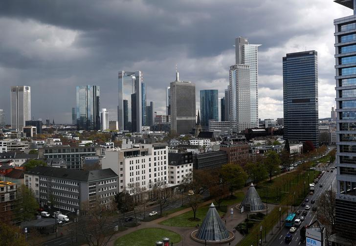 2016年4月15日,德国法兰克福,城市天际线。REUTERS/Kai Pfaffenbach