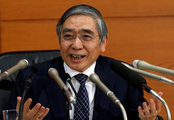 2016年11月1日,日本央行总裁黑田东彦出席央行新闻发布会。REUTERS/Kim Kyung-Hoon