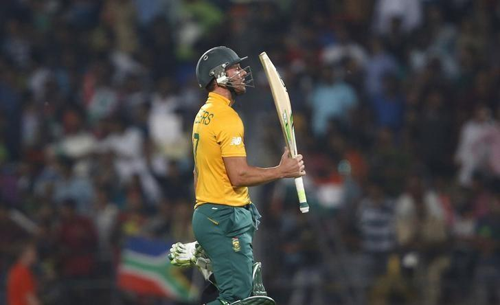 Cricket - South Africa v West Indies - World Twenty20 cricket tournament - Nagpur, India, 25/03/2016. South Africa's AB de Villiers walks off the field after his dismissal. REUTERS/Danish Siddiqui