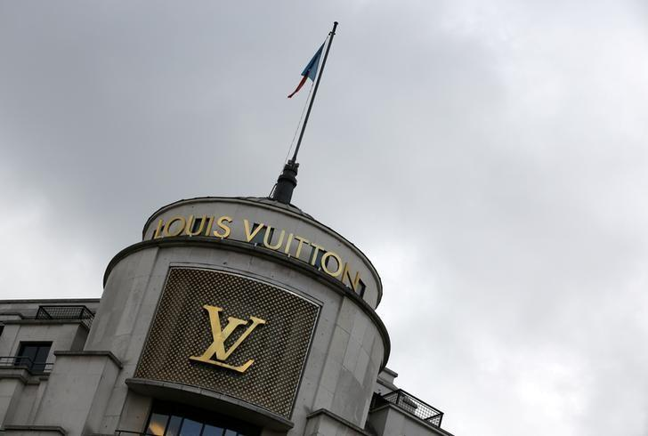 FILE PHOTO: The logo of French luxury group Louis Vuitton is seen at a store in Paris, France, February 6, 2017. REUTERS/Jacky Naegelen/File Photo