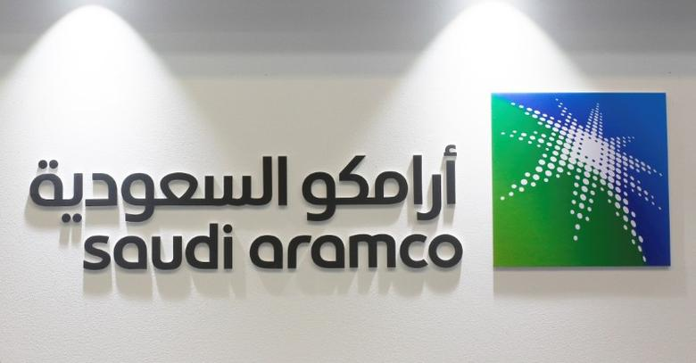Logo of Saudi Aramco is seen at the 20th Middle East Oil & Gas Show and Conference (MOES 2017) in Manama, Bahrain, March 7, 2017. REUTERS/Hamad I Mohammed