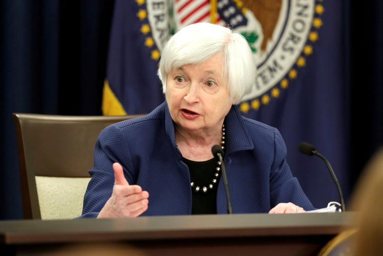 FILE PHOTO - Federal Reserve Chair Janet Yellen speaks during a news conference after a two day Federal Open Market Committee (FOMC) meeting in Washington, U.S., March 15, 2017. REUTERS/Yuri Gripas/File Photo