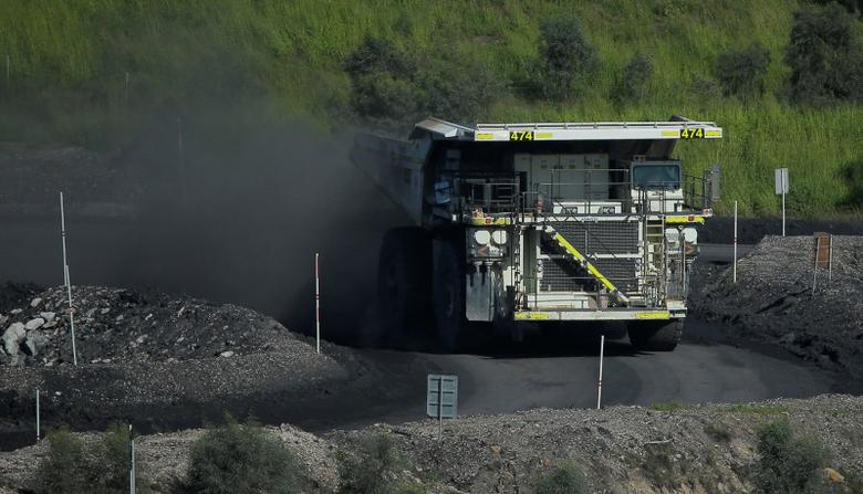 A coal truck drives inside Rio Tinto's Hunter Valley operations in Lemington, north of Sydney, Australia, April 9, 2017.   REUTERS/Jason Reed