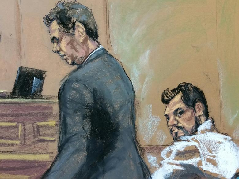 FILE PHOTO: Mehmet Hakan Atilla (R) a deputy general manager of Halkbank, is shown in this court room sketch with his attorney Gerald J. DiChiara as he appears in Manhattan federal court in New York, New York, U.S., March 28, 2017.   REUTERS/Jane Rosenberg