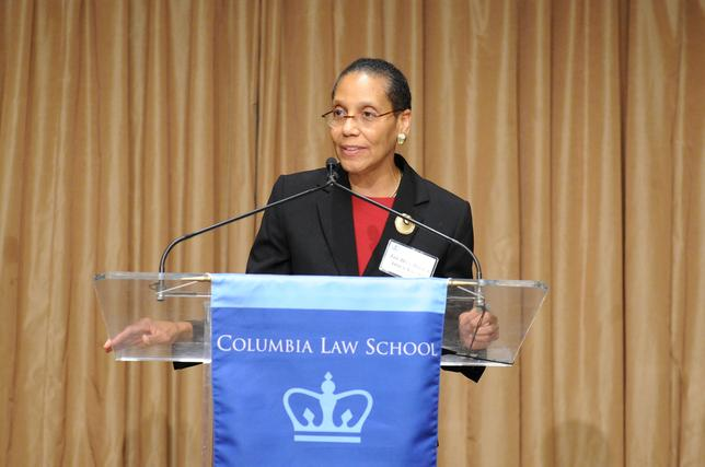 Judge Sheila Abdus-Salaam, associate judge of the Court of Appeals, who was found dead in New York's Hudson River on Wednesday, speaks in this undated photo released by the Columbia Law School in New York, U.S. on April 13, 2017.   Courtesy of Columbia Law School/Handout via REUTERS