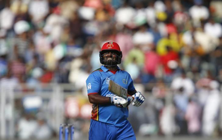 Cricket - South Africa v Afghanistan - World Twenty20 cricket tournament - Mumbai, India, 20/03/2016. Afghanistan's Mohammad Shahzad reacts as he walks off the field after his dismissal.  REUTERS/Danish Siddiqui/Files