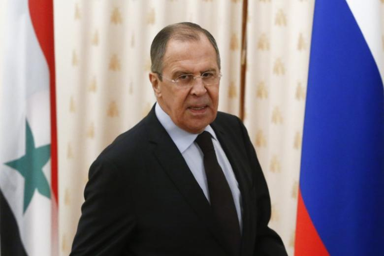 Russian Foreign Minister Sergei Lavrov attends a meeting with his Syrian counterpart Walid al-Muallem in Moscow, Russia, April 13, 2017. REUTERS/Sergei Karpukhin