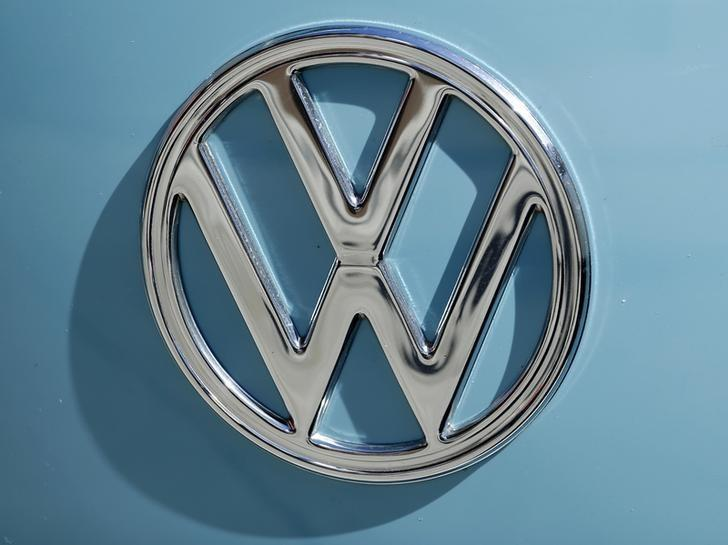 A Volkswagen logo is shown on the front of an old Volkswagen van in Encinitas, California September 29, 2015. U.S. lawmakers on Tuesday asked Volkswagen AG to turn over documents related to the company's diesel emissions scandal, including records concerning the development of a software program intended to defeat regulatory emissions tests.  REUTERS/Mike Blake - RTS2BD9