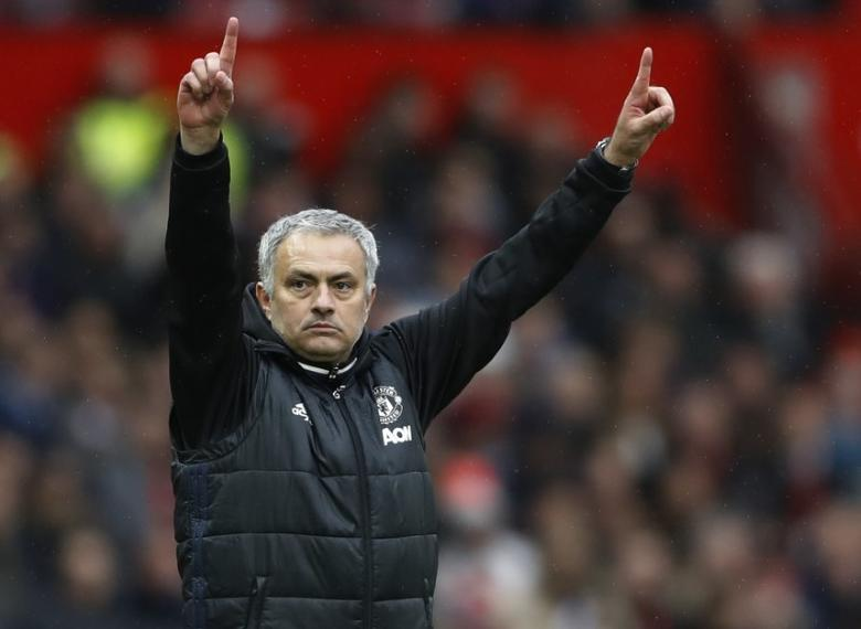 Britain Soccer Football - Manchester United v Chelsea - Premier League - Old Trafford - 16/4/17 Manchester United manager Jose Mourinho  Action Images via Reuters / Carl Recine Livepic