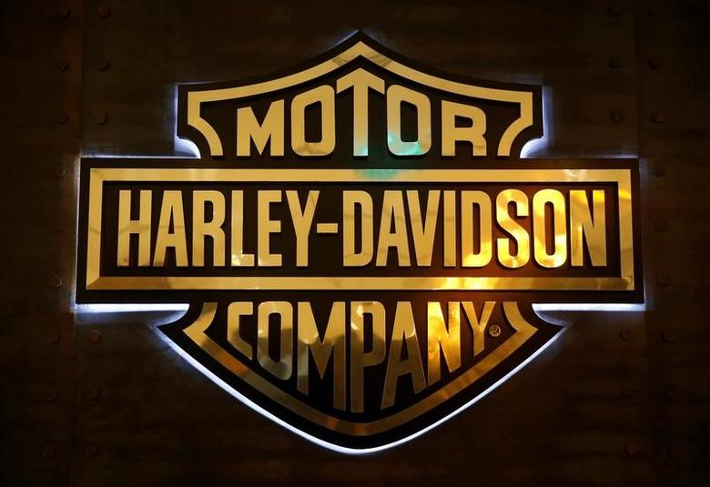 A Harley-Davidson signage is displayed in their head office in Singapore October 13, 2016.  REUTERS/Edgar Su