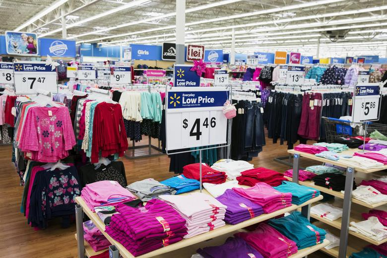 FILE PHOTO: Women's clothing are displayed in a Walmart store in Secaucus, New Jersey, November 11, 2015. REUTERS/Lucas Jackson/File Photo