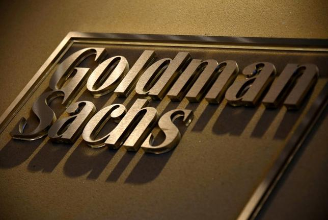 FILE PHOTO - A sign is displayed in the reception of the Sydney offices of Goldman Sachs in Australia, May 18, 2016.    REUTERS/David Gray/File Photo