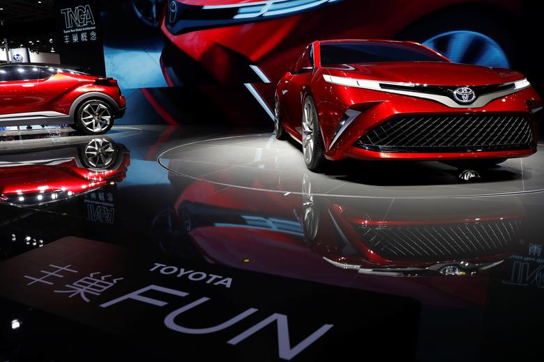 Toyota concept vehicles are displayed at the Shanghai Auto Show, during its media day, in Shanghai, China April 19, 2017. REUTERS/Aly Song