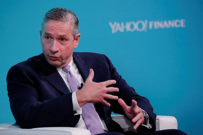 FILE PHOTO: Klaus Kleinfeld, Chief Executive Officer of Arconic, takes part in the Yahoo Finance All Markets Summit in New York, U.S., February 8, 2017. REUTERS/Lucas Jackson