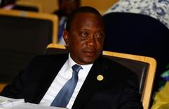 Kenya's President Uhuru Kenyatta attends the 28th Ordinary Session of the Assembly of the Heads of State and the Government of the African Union in Ethiopia's capital Addis Ababa, January 30, 2017.   REUTERS/Tiksa Negeri