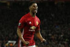 Marcus Rashford comemora gol do Manchester United  20/4/17      Reuters / Andrew Yates