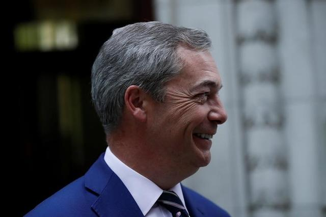 Nigel Farage, former leader of UKIP and anti-EU campaigner leaves Millbank studios in central London, Britain April 21, 2017.  REUTERS/Stefan Wermuth