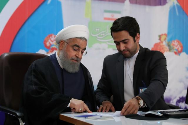 Iran's President Hassan Rouhani registers to run for a second four-year term in the May election, in Tehran, Iran, April 14, 2017. President.ir/Handout via REUTERS