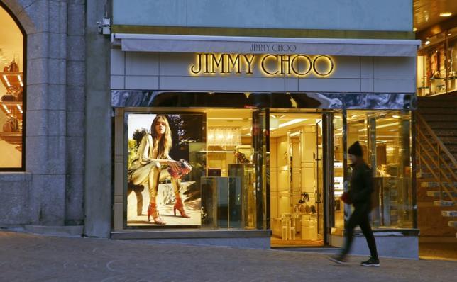 A store of shoe designer Jimmy Choo is seen in the mountain resort of St. Moritz, Switzerland March 15, 2016.  REUTERS/Arnd Wiegmann/Files