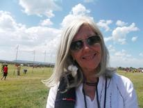 Italian-born conservationist Kuki Gallmann Kuki Gallmann poses for a photograph during the Highland Games in Laikipia Kenya, September  22, 2012. Gunmen wounded Gallmann at her conservation park on April 23, 2017 in the latest of a string of attacks during land invasions in drought-stricken northern Kenya. REUTERS/Stringer.