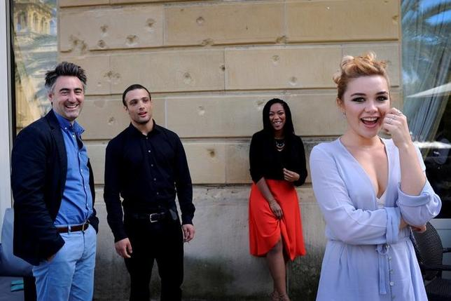English actors Cosmo Jarvis, Naomi Ackie and Florence Pugh take part in a photo session alongside director William Oldroyd (L, front) at the San Sebastian Film Festival,  northern Spain September 20, 2016. REUTERS/Vincent West/File Photo