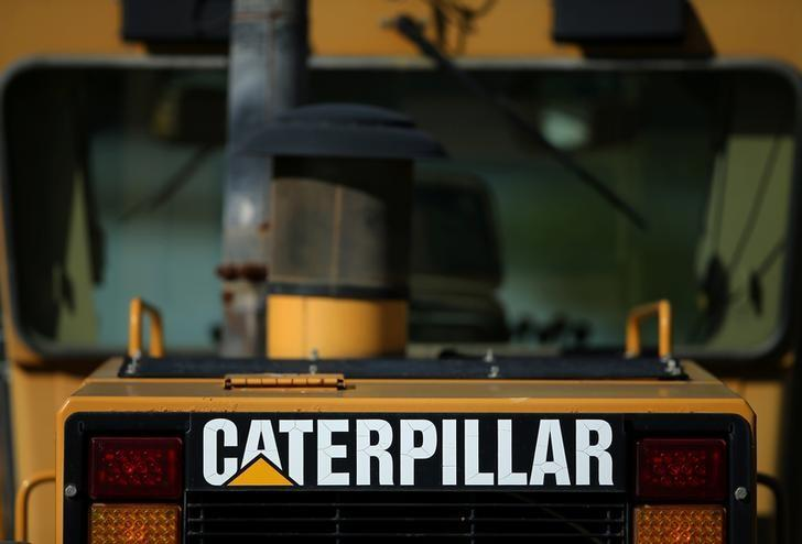 Caterpillar Inc. equipment is on display for sale at a retail site in San Diego, California, U.S., March 3, 2017.    REUTERS/Mike Blake/File Photo