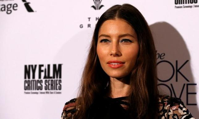 Cast member Jessica Biel poses at the premiere of ''The Book of Love'' in Los Angeles, California U.S., January 10, 2017.   REUTERS/Mario Anzuoni