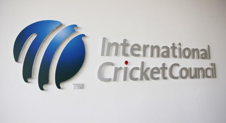 FILE PHOTO - The International Cricket Council (ICC) logo at the ICC headquarters in Dubai, October 31, 2010.   REUTERS/Nikhil Monteiro