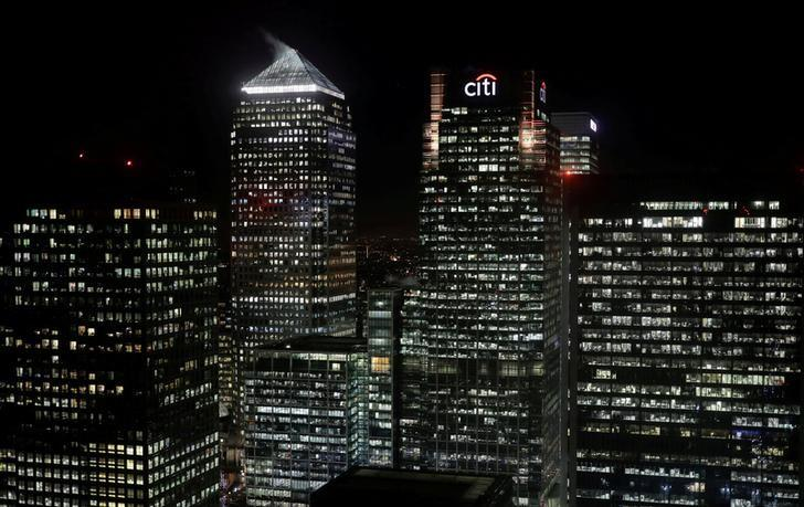 The Citibank building is seen in the financial district of Canary Wharf in London, Britain January 19, 2017. REUTERS/Kevin Coombs/File Photo