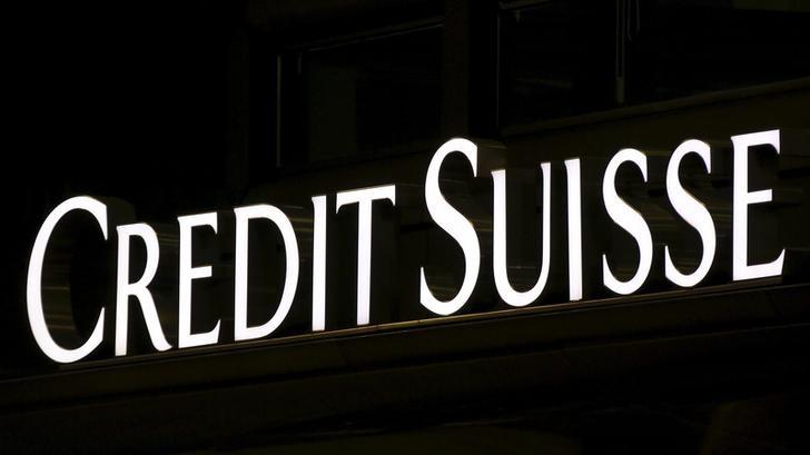 The Credit Suisse logo is seen at the headquarters in downtown Milan, Italy, March 9, 2016. REUTERS/Stefano Rellandini