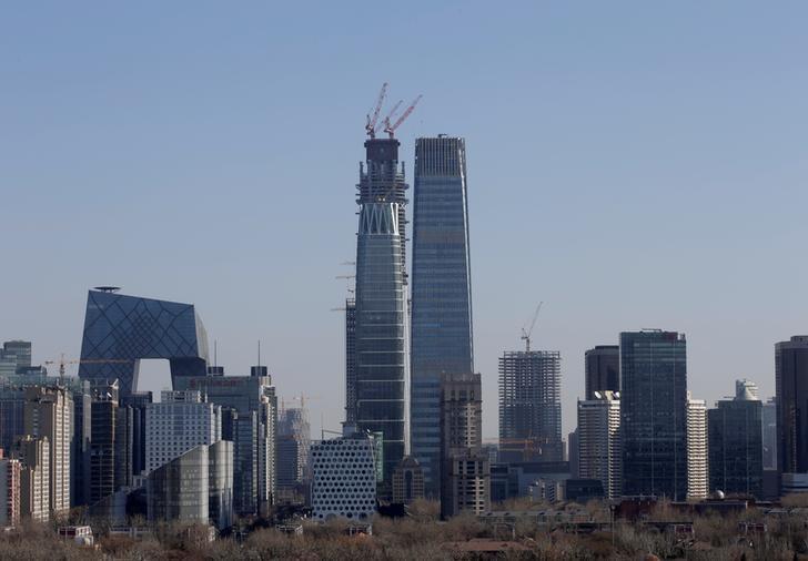 2016年12月22日,中国北京,中央商务区高楼林立。REUTERS/Jason Lee