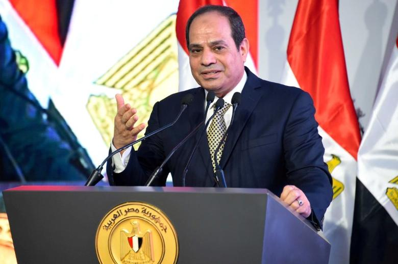 Egyptian President Abdel Fattah al-Sisi speaks during the opening of the first and second phases of the housing project ''Long Live Egypt'', which focuses on development in the country's slums, at Al-Asmarat district in Al Mokattam area, east of Cairo, Egypt May 30, 2016 in this handout picture courtesy of the Egyptian Presidency. The Egyptian Presidency/Handout via REUTERS/File Photo