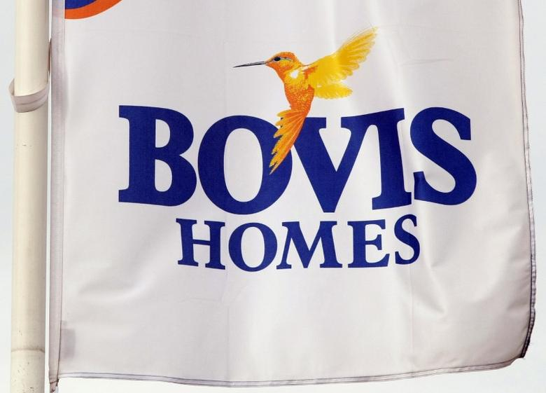 FILE PHOTO: A Bovis homes flag flies at a housing development near Bolton, northern England, July 9, 2008. REUTERS/Phil Noble