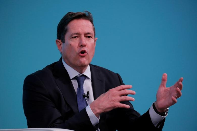 FILE PHOTO: Chief executive officer of Barclays, Jes Staley, takes part in the Yahoo Finance All Markets Summit in New York, U.S., February 8, 2017. REUTERS/Lucas Jackson