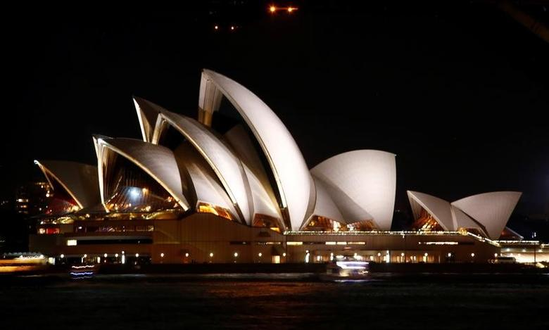 The Sydney Opera House seen before the tenth anniversary of Earth Hour in Sydney, Australia, March 25, 2017.      REUTERS/David Gray