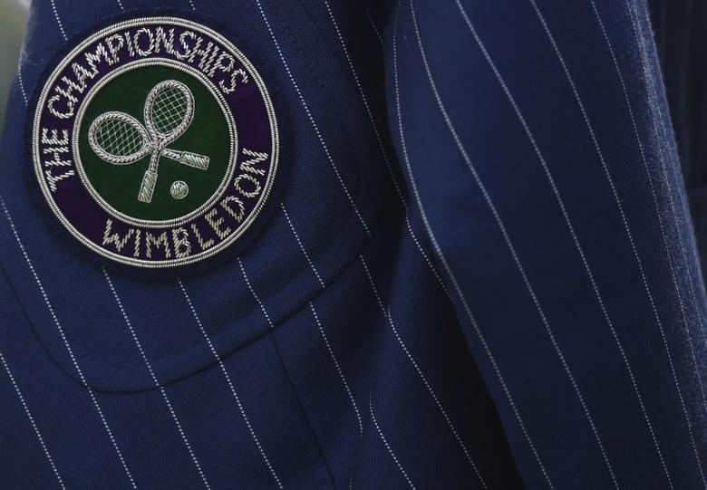 Britain Tennis - Wimbledon - All England Lawn Tennis & Croquet Club, Wimbledon, England - 28/6/16 A line judges jacket REUTERS/Toby Melville
