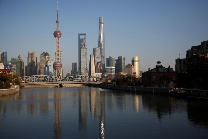2017年3月14日,中国上海,浦东金融区全貌。REUTERS/Aly Song